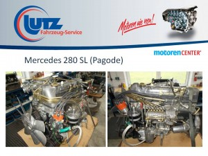Instandgesetzter Mercedes Motor