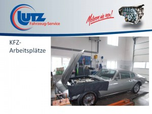 Aston Martin in Reparatur